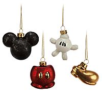Mickey Mouse Glass Ornament Set