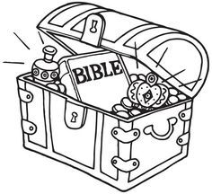 Treasure Chest and Gem Bible Activity Sheet from www