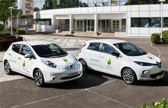 Parmi les modèles retenus : la citadine Renault ZOE et la berline compacte Nissan LEAF