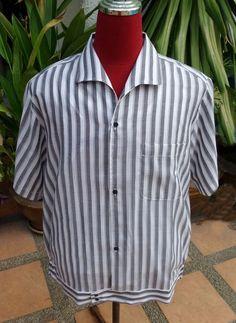 Handmade 1950's Style Mens Rockabilly Vintage, Striped Bowling Shirt – Judes Rockabilly Plus