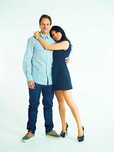 """Jonny Lee Miller (Sherlock Holmes) and Lucy Liu (Dr. Watson) of """"Elementary"""" (CBS)."""