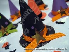 witches hats filled with treats…great room mother idea… Halloween Class Treats, Halloween Hats, Halloween Party Themes, Holidays Halloween, Happy Halloween, Halloween Decorations, Scrapbook Box, Scrapbooking, Witch Party