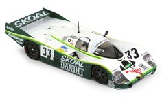 Porsche 956LH #33 3rd Le Mans 1984 'Skoal Bandit' car (SICA02H). The 956 model was created by Porsche in 1982 to compete in the new Group C category. It was replaced in 1985 by the similar 962 model. It was one of the most successful racing cars ever: it won four 24h Le Mans competitions consecutively, in 1982, 1983, 1984, 1985, and the World Car Manufacturer title three times.
