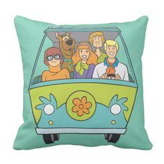 3eb11da583e Scooby-Doo   The Gang Mystery Machine Throw Pillow
