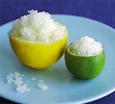 Try this lemony ice dessert, just five ingredients and packed full of lemon and lime goodness