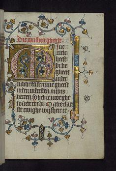 Illuminated Manuscript, Doffinnes Hours, Floral Decoration, Walters Manuscript W.185, fol. 226r