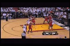 Dwyane Wade attempts dunk and fails miserably.