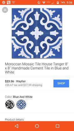 Moroccan mosaic cement tile