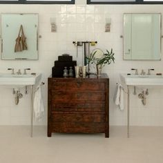 Vintage Furniture in the Bathroom