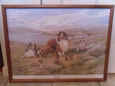 "LOUISE LOPINA ""WINDSWEPT"" SHETLAND SHEEPDOG 63/999 PRINT"