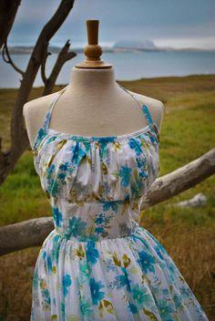 1950's Marilyn Monroe Inspired Halter Dress by TrulyNewVintage