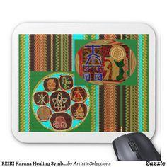 REIKI Karuna Healing Symbols Vintage CARE GIFTS 99 Mouse Pad
