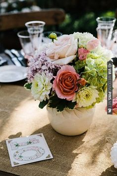 beautiful florals and table numbers | CHECK OUT MORE IDEAS AT WEDDINGPINS.NET | #wedding