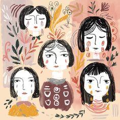 shape of tears @charadafonda #sadillustration #illustration #womanillustration