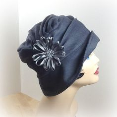 Cloche Hat, Vintage Inspired , Gray Wool, Art Deco, for Women, the Alice on Etsy, $104.50