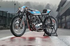 Yamaha team up with Krugger Motorcycles for MotoGP inspired Yard Built Supercharged SR400