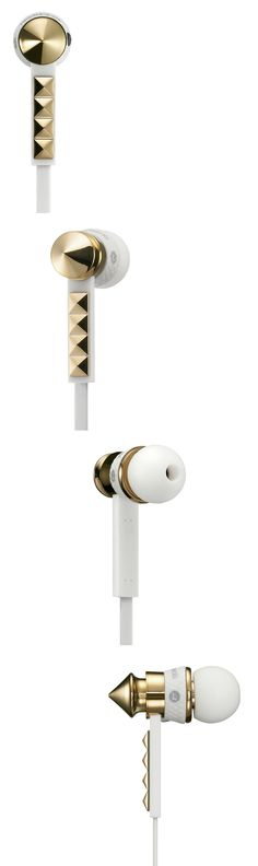 Heart Beats White by Beats by Dr. Dre // crisp and gold bling #productdesign