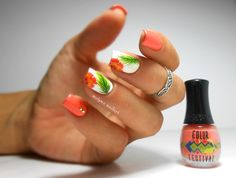 Tropical nails #coral #bourjois #prettymani - bellashoot.com