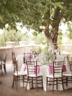 White and pink #wedding #decor
