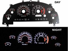 99-04 Ford Mustang V6 Black/(white Light) Glow Gauge by High performance parts. $45.00. RIG-0116B Specification:   Gauge Faces are Anti-Glare and Scratch Resistant Surface.  Each kit comes with all accessories: Complete Wiring, Adjustable Power Inverter, Power switch and Gauge Faces