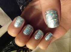 Shellac and foil. Easy peasy!