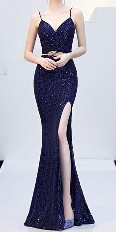 Best Indoor Garden Ideas for 2020 - Modern Long Tight Dresses, Dark Blue Prom Dresses, Glitter Prom Dresses, Dresses Short, Dark Blue Gown, Navy Blue Formal Dress, Sexy Long Dress, Cocktail Dress Classy Elegant, Cocktail Dress Prom