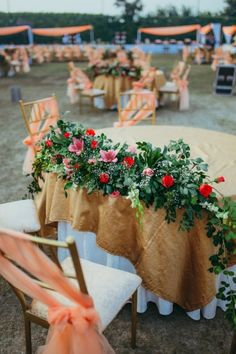 Table Centerpieces - Floral and Rustic Themed Centerpieces | WedMeGood #wedmegood #indianbride #indianwedding #indiandecor #decor #centrepiece #weddingcentrepiece #tabledecor