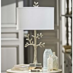 Modern Silver Tree Table Lamp