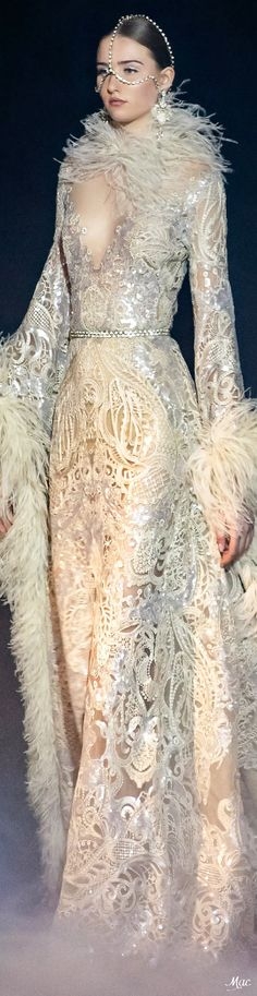 Spring 2021 Haute Couture Elie Saab Elie Saab Couture, Ellie Saab, Haute Couture Fashion, High End Fashion, Fashion Show, Fashion Design, Couture Collection, Couture Dresses, Playing Dress Up
