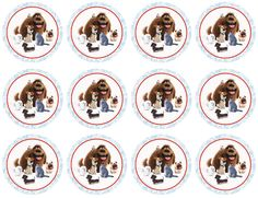 . Secret Life Of Pets, Bottle Cap Images, Animal Party, Hair Bows, Birthday Parties, Have Fun, Photo Wall, Printables, Duke