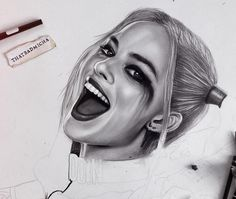 WANT A FEATURE ?   CLICK LINK IN MY PROFILE !!!    Tag  #LADYTEREZIE   Repost from @thatbadmicha   Started my new 100x70 artwork for miss #HARLEYQUINN  and guess what? I'm also recording the work!! You can clearly tell I'm obsessed with this girl @margotrobbie  #margotrobbie #drawing #artwork #sketch #sketchbook #realistic #suicidesquad #dc #dccomics #joker #jaredleto #caradelevingne #makeup #dailyart #art #arte #artistic via http://instagram.com/ladyterezie
