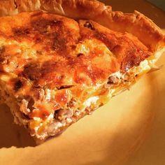 cuisinedemememoniq:Un morceau de tarte à la courge butternut au...