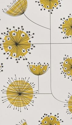 MissPrint's Dandelion mobile wallpaper in a refreshing Porcelain with Yellow colour combination