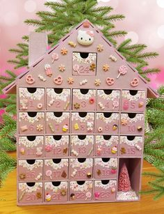 Kitty Wooden Advent Calendar II - A gift that keeps on giving all month long! by StardustKay on Etsy
