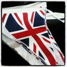 Union Jack bunting - freshly ironed for our village fete this weekend!
