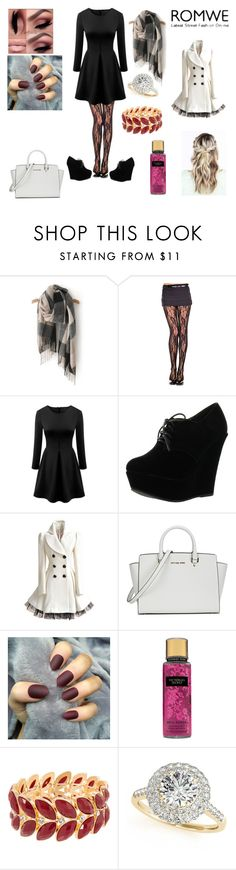"""""""romwe scarf"""" by itssarebabi on Polyvore featuring Forever Link, Michael Kors and Allurez"""