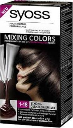 coloration syoss mixing couleur n1 18 fusion chocolat fonce neuf - Syoss Coloration