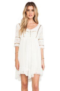 #REVOLVEclothing \ Free People Little Dot Mini Dress in Vanilla