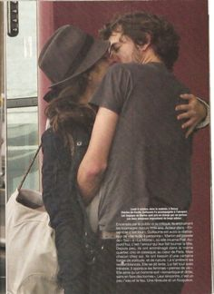 Marion Cotillard Guillaume Canet kiss airport