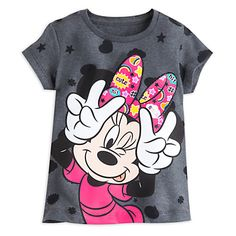 Minnie Mouse Allover Tee for Girls | Disney Store