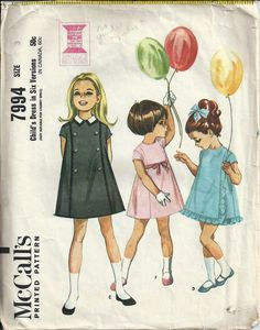 Childs VTG Dress Pattern in Six Versions by DawnsDesignBoutique, $5.00