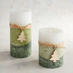 A snow-tipped holiday fragrance of evergreen, balsam and pine, warmed with Texas cedar and Spanish moss—all in fragrant candles to fit your favorite holders. A Pier 1 exclusive. Diy Candles Scented, Fragrant Candles, Homemade Candles, Mason Jar Candles, Pillar Candles, Marble Candle, Christmas Scents, Christmas Candles, Xmax