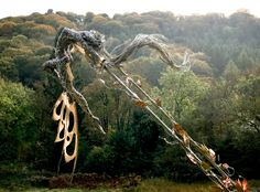 Broken Wings: Stainless Steel Wire Fairy Sculpture - Robin Wight