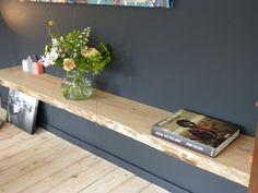 Portfolio Massief hout - Blindewandplanken Scandinavian Interior, Home Interior, Interior Styling, Interior Design, Deco Tv, Kitchen Colour Schemes, Tv Furniture, New Room, Home And Living