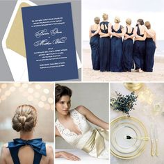 Kleinfeld Paper    Unity wedding invitation design with custom alterations to create a modern-classic look in navy & gold     shop this design: http://www.kleinfeldpaper.com/shop/Wedding-Invitations-Unity-P645_1_100_A32_S01_P01