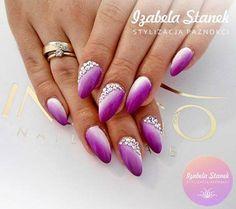 by Izabela Stanek Indigo Young Team - Follow us on Pinterest. Find more inspiration at www.indigo-nails.com #nailart #nails #indigo #ombre #swarovski