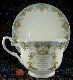 Birth Of Prince George Cup And Saucer Roy Kirkham Large Size Bone China son of William and Kate