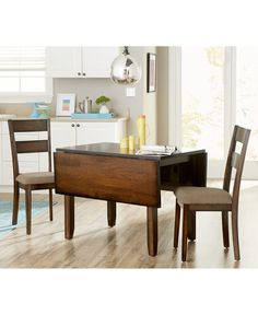 Drop Leaf Kitchen Table and Chair Luxury Branton Drop Leaf Kitchen Furniture Collection Created for Macy S Space Furniture, Dining Room Furniture, Urban Furniture, Dining Table Chairs, Kitchen Chairs, Drop Leaf Table, Furniture Collection, Cozy Cottage, Cross Country
