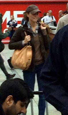 Yes, that's Kate Middleton in a train station.