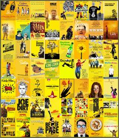 "To signify that your movie is a ""big independent film,"" go for a super-saturated golden yellow."